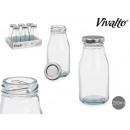Großhandel Lunchboxen & Trinkflaschen: Mini-Glasflasche Silberdeckel 250 ml
