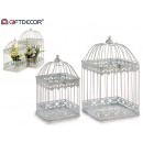 wholesale Home & Living: set of 2 white square forged cages