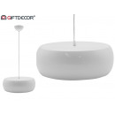 Acrylic screen white round lamp