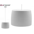 Lampe ronde en acrylique avec écran en acrylique