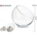 bol en verre coupe bouche diamètre 24 cm