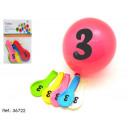 wholesale Crockery: bag 5 printed balloons symbol 3