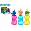 wholesale Lunchboxes & Water Bottles: bottle with little animal, colors 3 times assorted