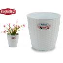vaso da fiori naturale inter / exter 19diam bianco