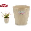 pot de fleurs naturel diametre inter / exter 19 ch