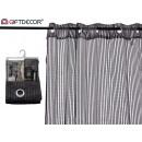 curtain 140x260cm 6 ollaos shine black