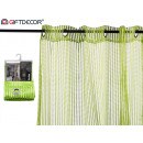 curtain 140x260cm 6 eyelets green shine