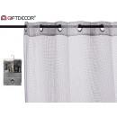 curtain 140x260cm 6 eyelets gray grid