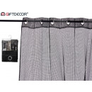 wholesale Curtains & Drapery: curtain 140x260cm 6 eyelets black grid