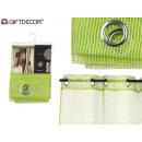 curtain 140x260cm 6 eyelets green grid
