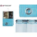 curtain 140x260cm 6 blue grid eyelets