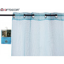 Großhandel Vorhänge & Gardinen: Vorhang 140x260cm 6 blaue Gitterösen