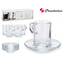 set of 6 cups cafe carre 72 cc