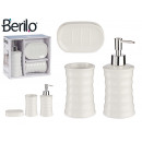white bamboo 3-piece bath set