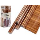 dark wood adhesive paper roll 45x200cm