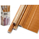 roll paper adhesive 45x200cm wood cla