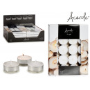 set of 20 white 10 large candles
