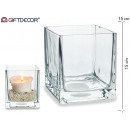 15x15 glass candle holder