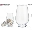 pot en verre conique de 30 cm de hauteur