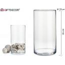 jarron cristal cilindrique 35cm20diam haut