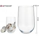 Jarron verre cylindrique 28 cm de haut