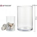Jarron verre cylindrique 25 cm de haut