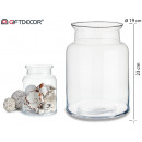 glass jar wide neck 23 cm high