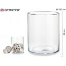 Jarron cristal cilindrique 21cm19,5di haut