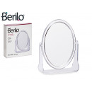 oval methacrylate mirror with stand