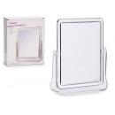 miroir rectangulaire en méthacrylate et support
