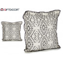 wholesale Cushions & Blankets: cushion 45x45 ethnic shapes small edge black