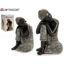 Manteau Bouddha en résine noir 41cm