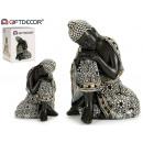 wholesale Figures & Sculptures: buddha resin mantle rests black 16,5cm