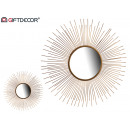 metal mirror 76 cm round tips