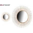 metal mirror 90 cm round tips