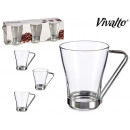 set of 3 cups coffee with milk 24cl