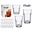 set of 18 square glasses