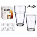 set of 12 smooth glasses
