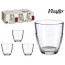 wholesale Drinking Glasses: set of 6 cut glasses 17cl
