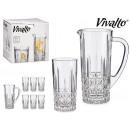 Krug und 6 Gläser Wasserrauten 25cl