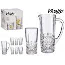 Krug und 6 Gläser Wasserblätter 25cl