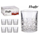 set of 6 glasses whiskey rhombuses 23cl