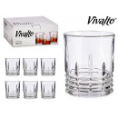 wholesale Drinking Glasses: set of 6 glasses whiskey lines 23cl