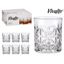 set of 6 glasses whiskey leaves 23cl
