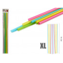 set of 30 straws xl 70cm assorted colors