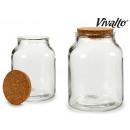 vaso di vetro redon sughero superiore 2900ml