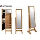 bijoutier miroir pied en bois 41x37x147cm