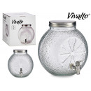wholesale Garden & DIY store: jar with tap citrus metal lid 7l