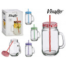 pitcher with straw lid metal 70cl colors 4 times s