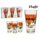 wholesale Drinking Glasses: set of 3 glasses orange refresher 31cl